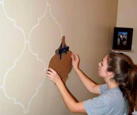 украшение интерьера стену