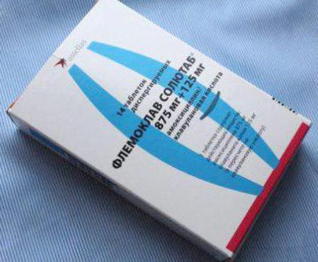флемоклав солютаб 875 125 инструкция