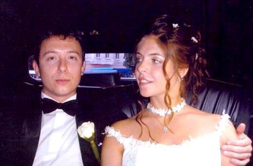 Вера Глаголева с мужем на свадьбе дочери