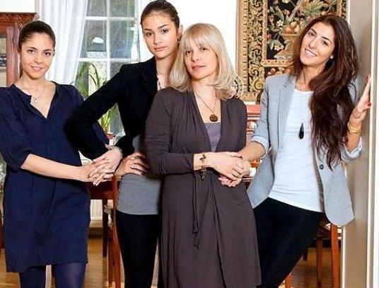 Дочери Веры Глаголевой и их мужья