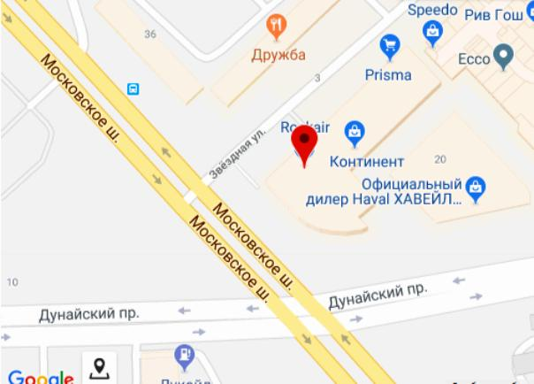 Location of the company in St. Petersburg
