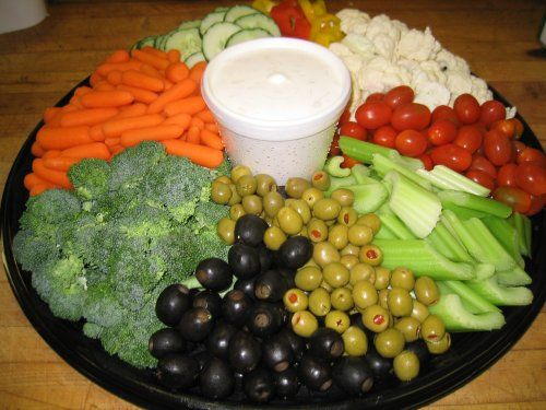 пример овощной тарелки
