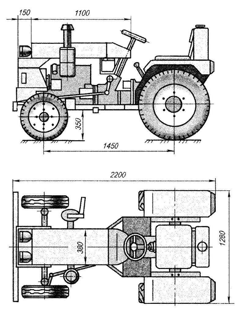 Homemade tractor drawing