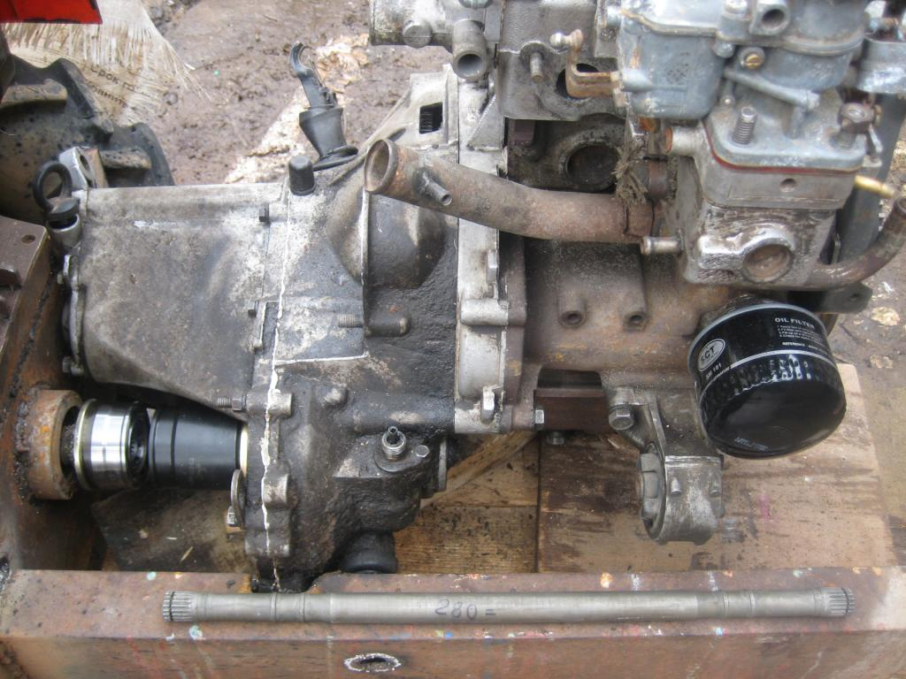 Engine from Oka on the frame