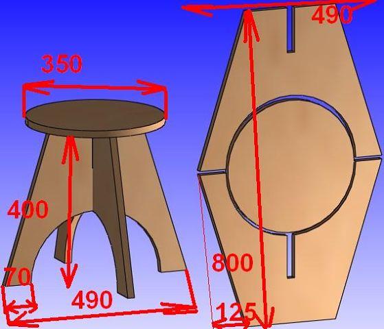 Как сделать табурет из фанеры своими руками