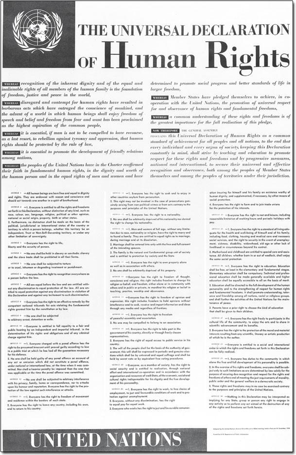 Human rights declaration