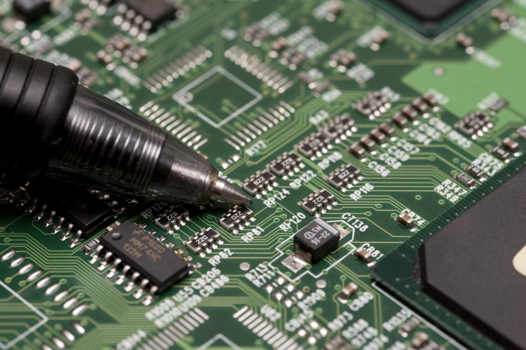 Soldering a chip with a single soldering iron