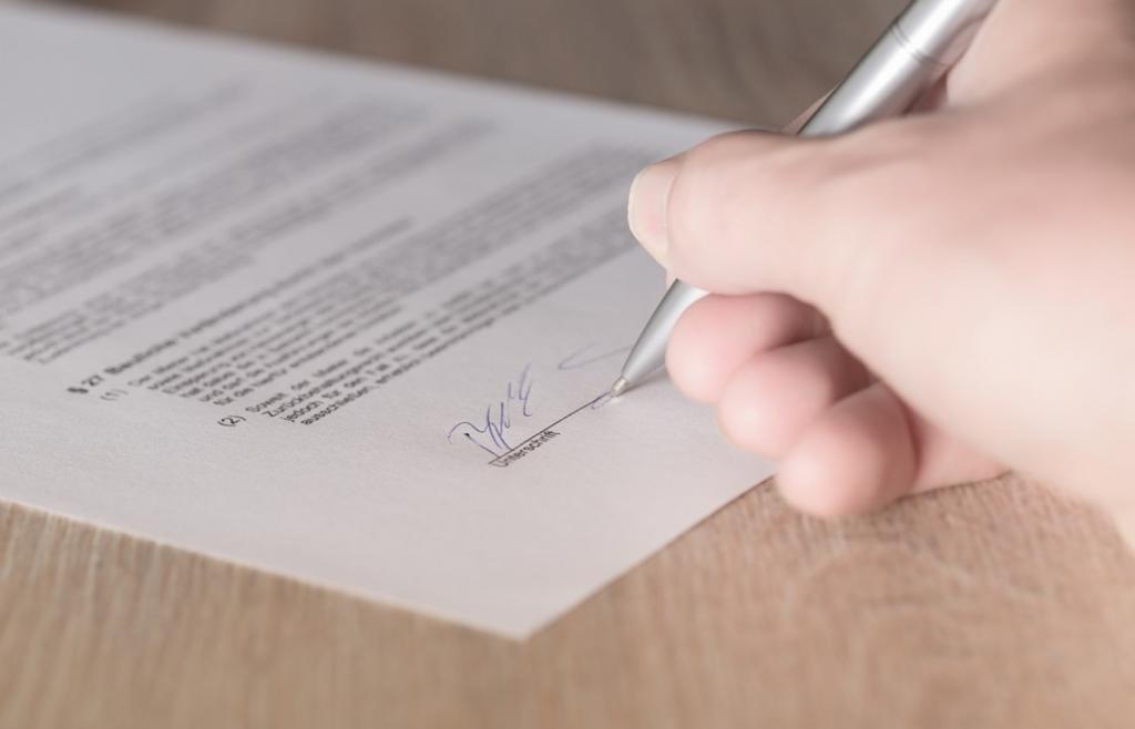 Подписание бумаг