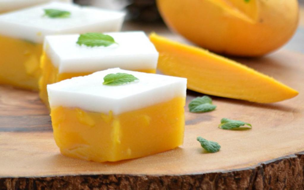 Желе с агар-агаром из манго