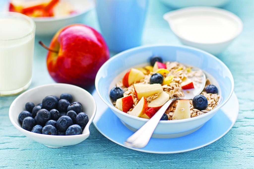 Объем порций диетического завтрака