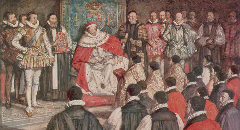 Presentation of the transfer to the king