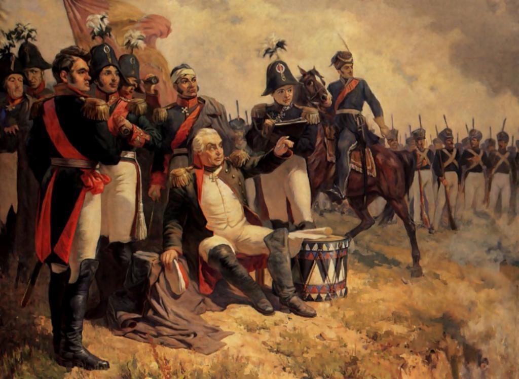 Бой с войсками Наполеона