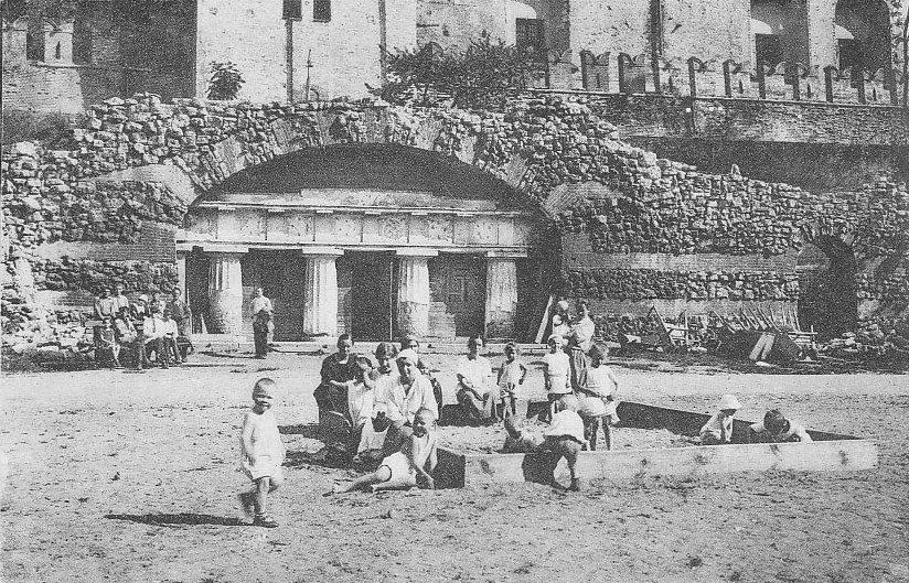 Грот в начале 20 века