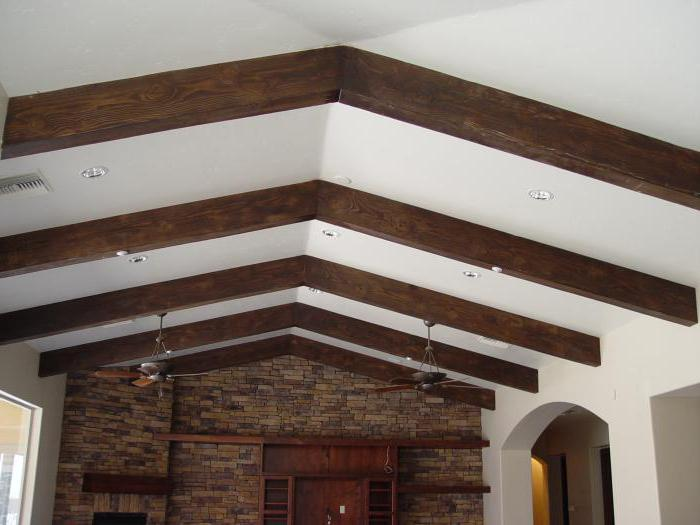 Декоративные балки на потолке из полиуретана, из дерева. Монтаж декоративных балок на потолок своими руками