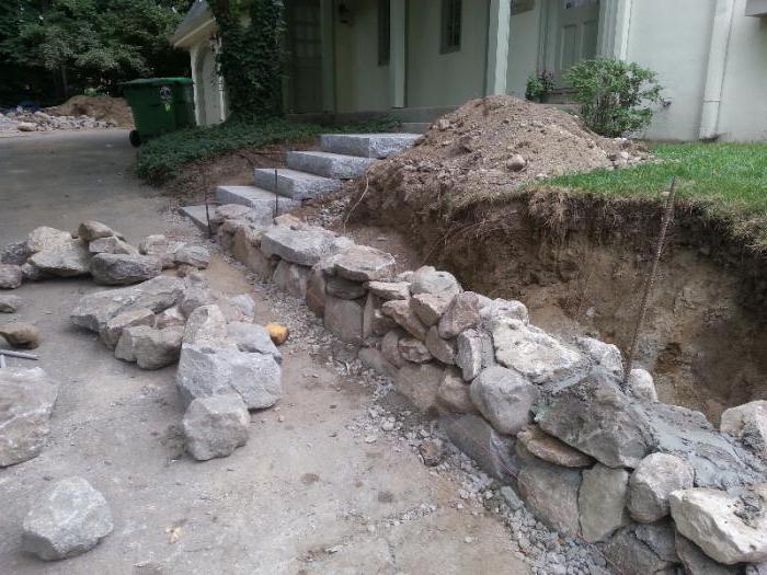 строительные работы камню