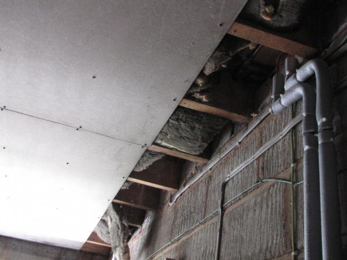 потолок в гараж