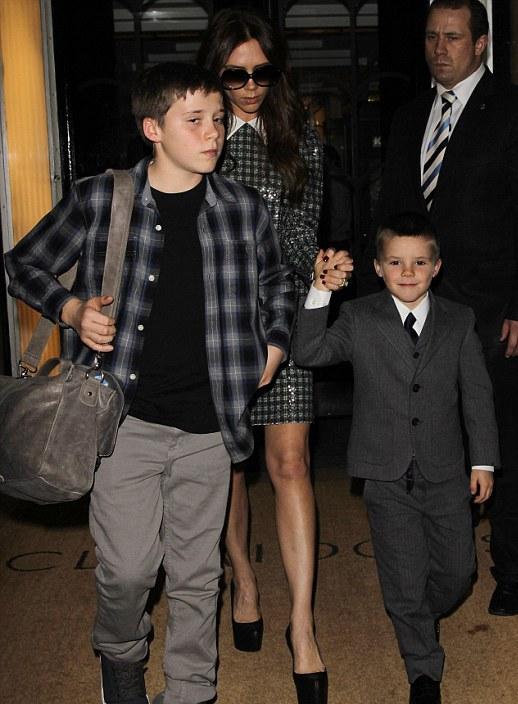 Beckham with children