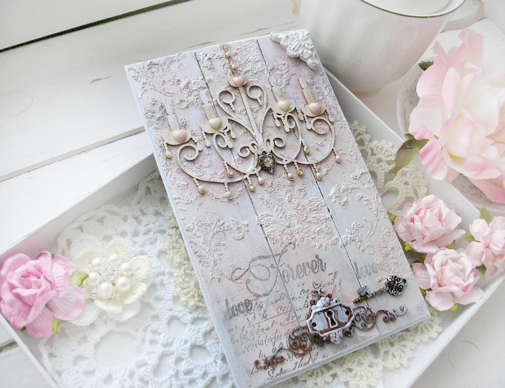 Открытка скрапбукинг к годовщине свадьбы, фонами