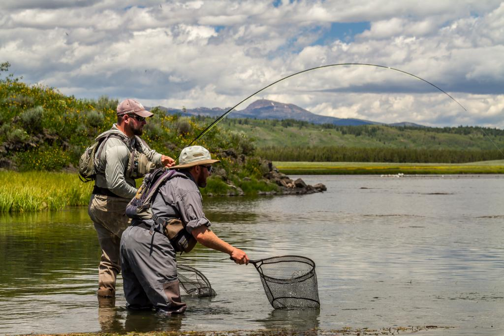 Fishermen on the lake