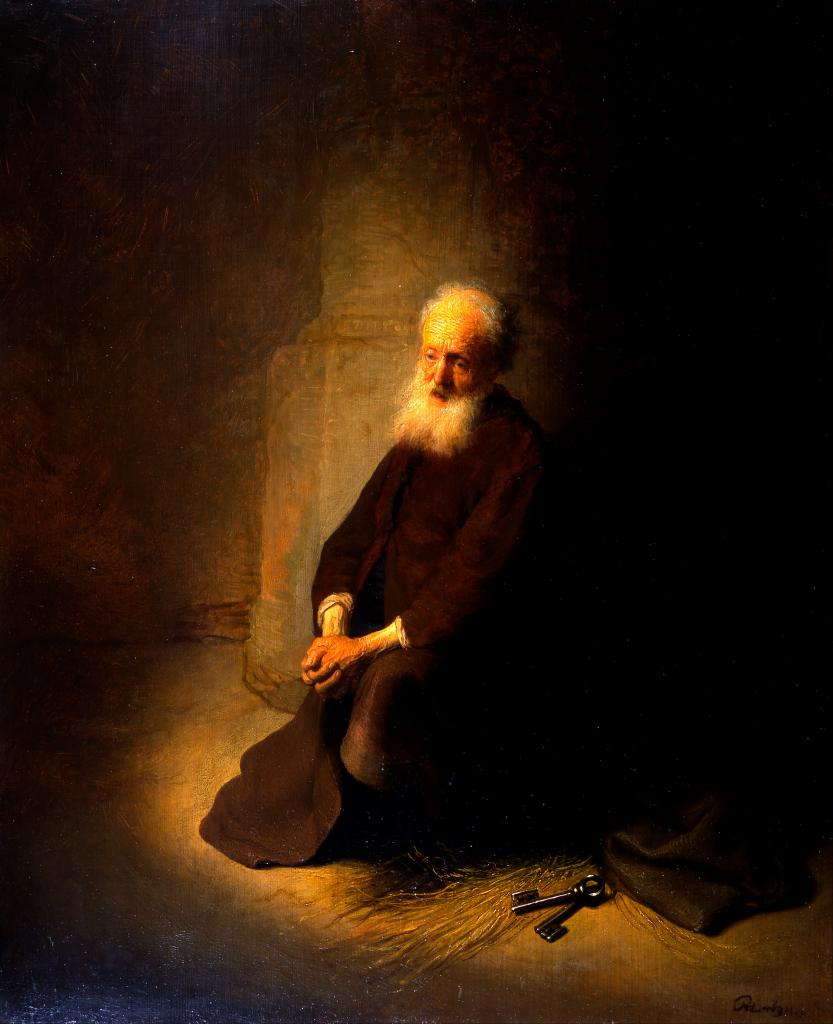 """Rembrandt """"St. Peter in the Dungeon"""""""