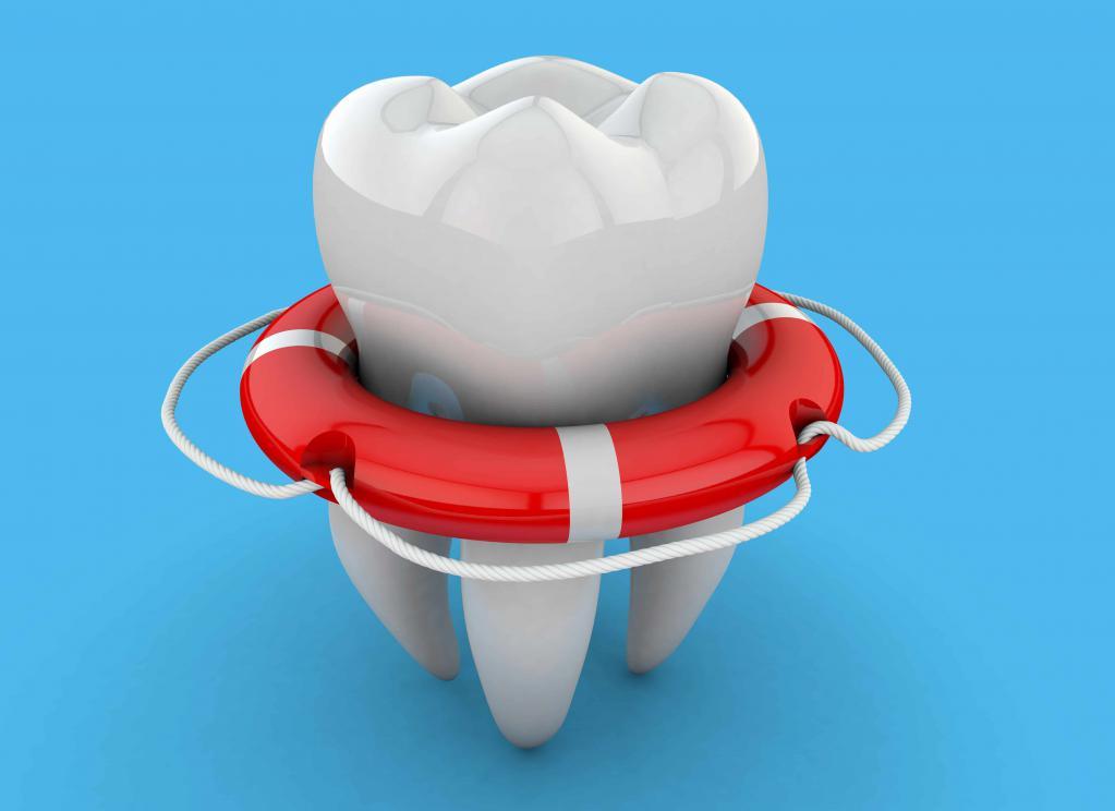 Зуб в спасательном круге