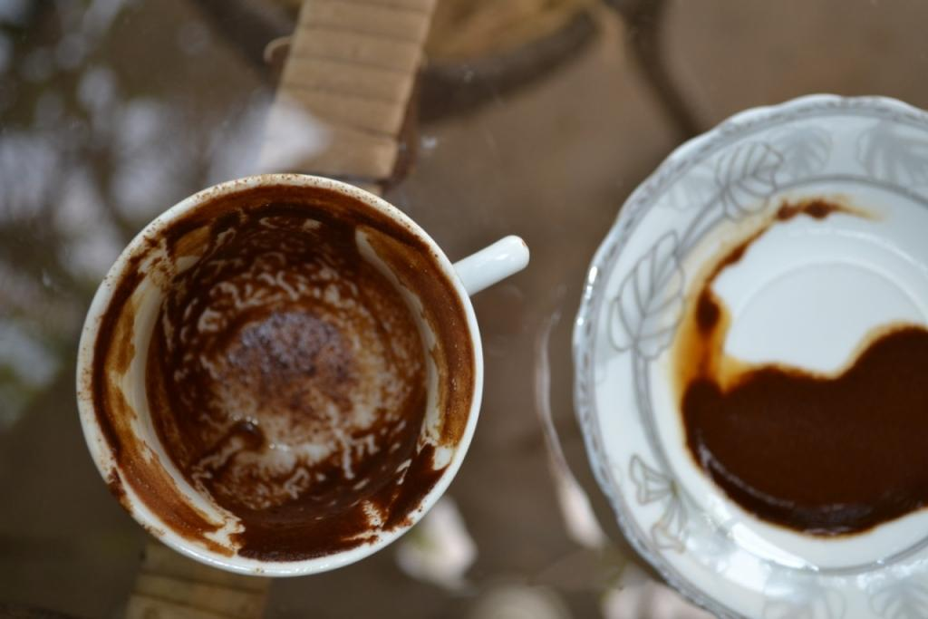 кофе на стенках