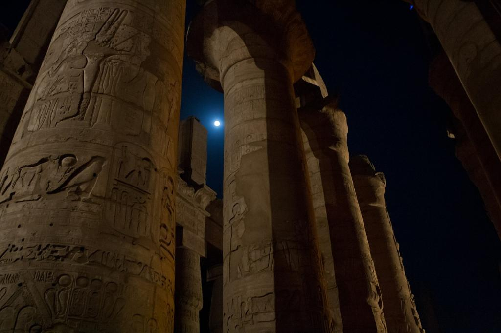 The ruins of an egyptian temple