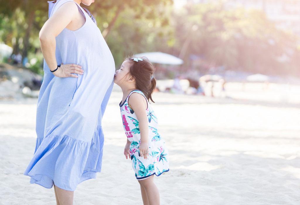 Беременная женщина с первым ребенком