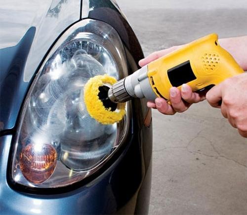 как полировать фары автомобиля самому