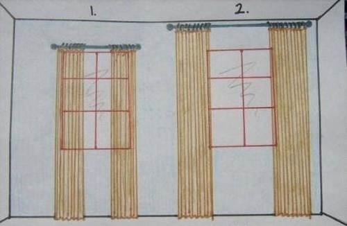 Correctly hang the cornice, photo