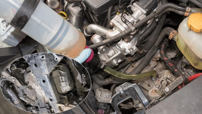 замена масла в двигателе пежо
