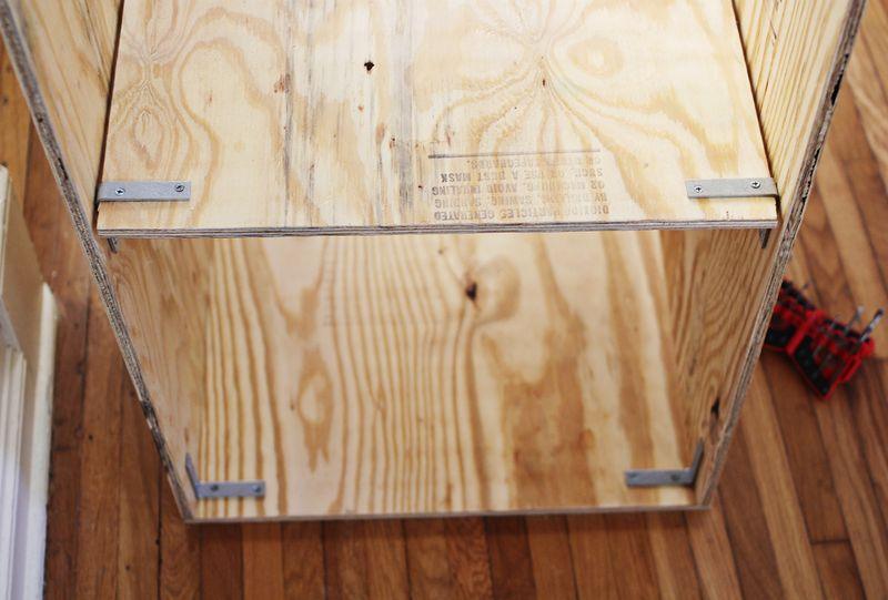 plywood shelf template