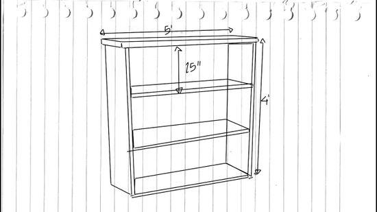 shelf drawing
