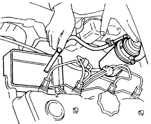 подсос в топливную систему дизельного двигателя