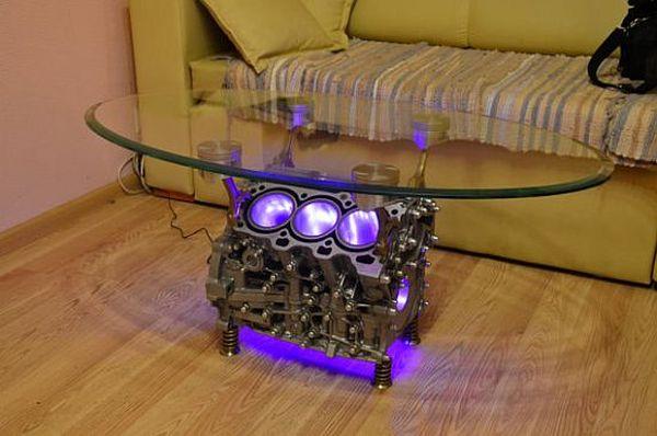 как сделать стол из двигателя