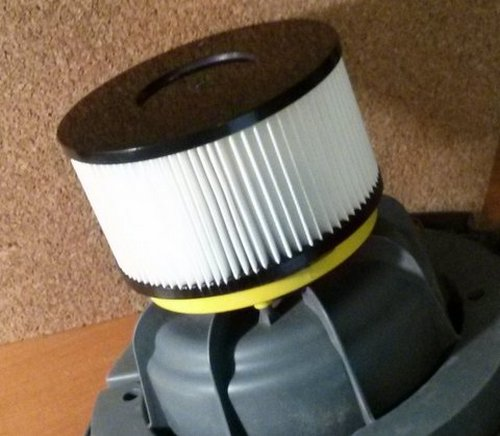 do-it-yourself filter for a vacuum cleaner