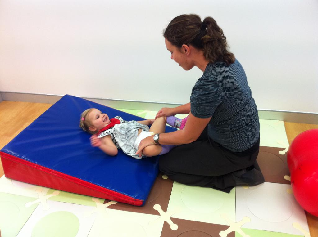 Work with babies with cerebral palsy