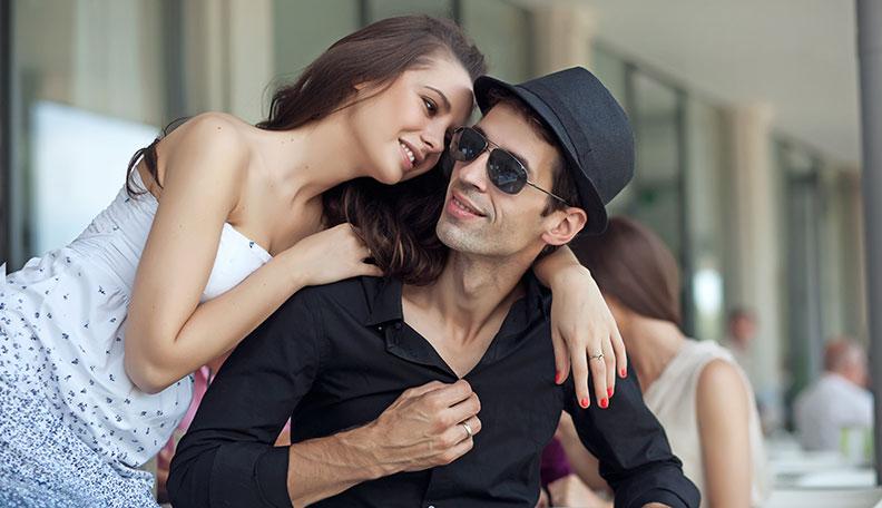 Girl with boyfriend