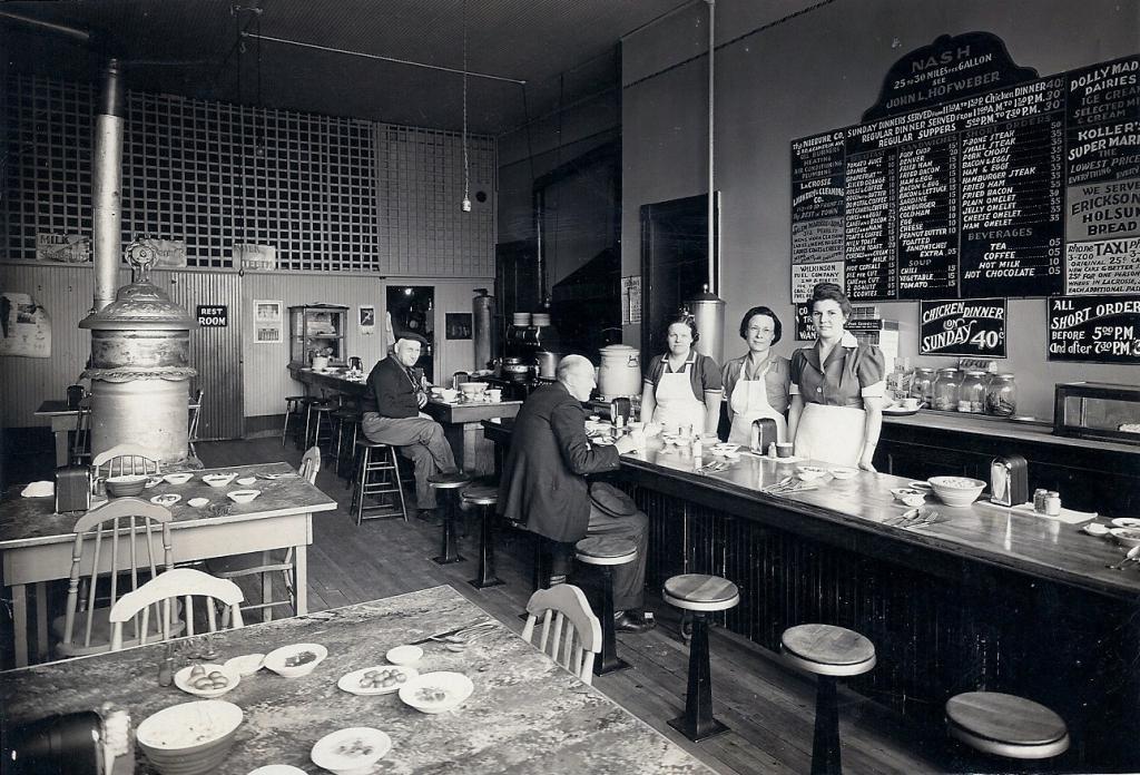 USA bar counter