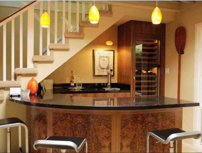 Bar counter in the living room