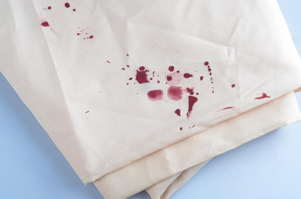 Пятна засохшей крови вывести фото