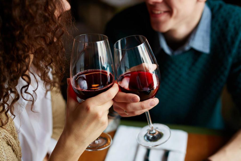 на свидании с вином