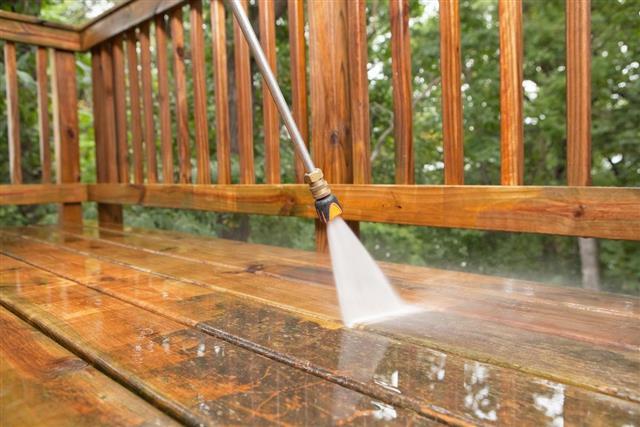 Clean wood before applying stain