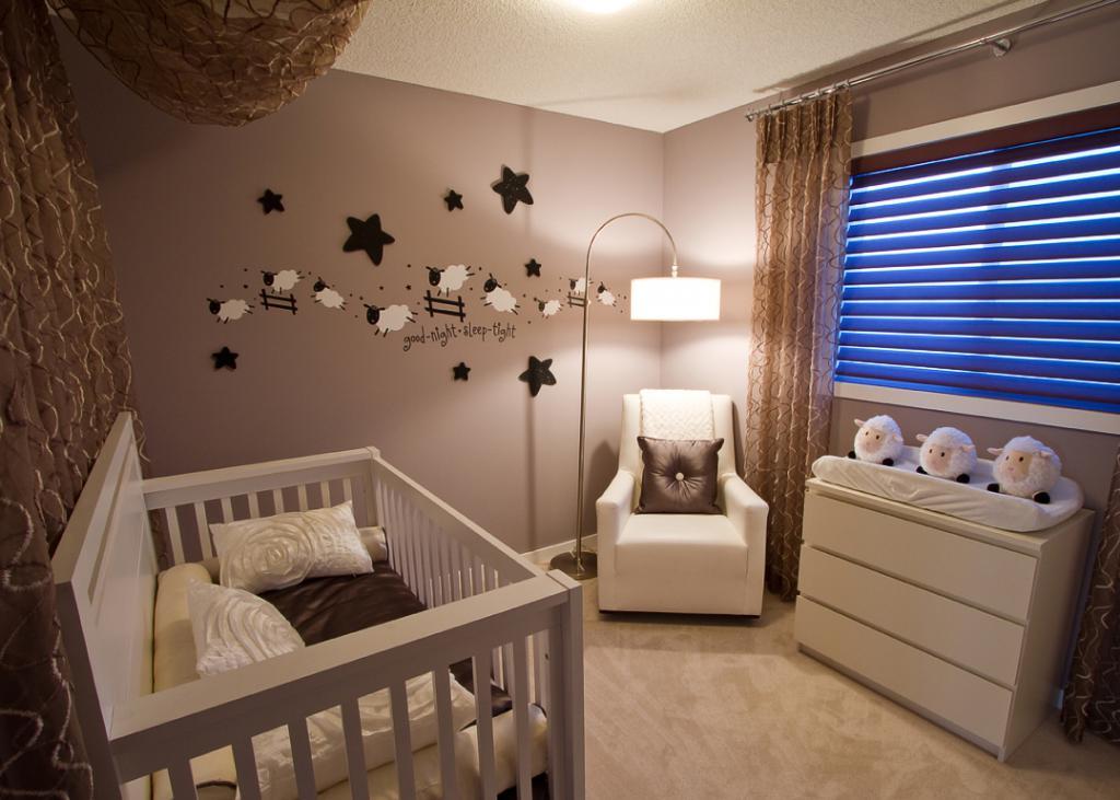 детская комната в бежевых тонах