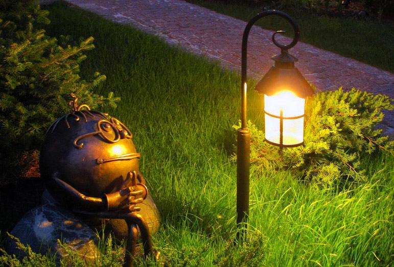 Светильники в сад своими руками 48
