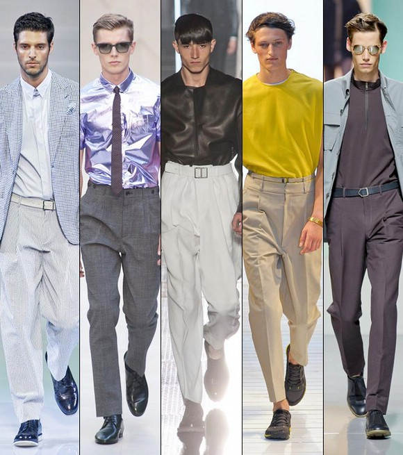 Men's trousers of different types