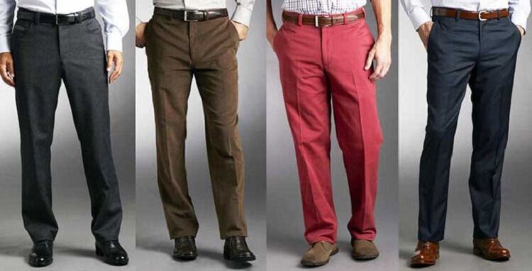 Pants with arrows of different types