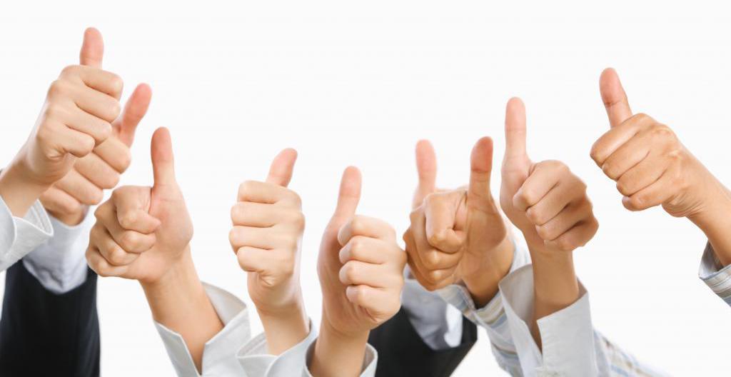 Hands thumbs up