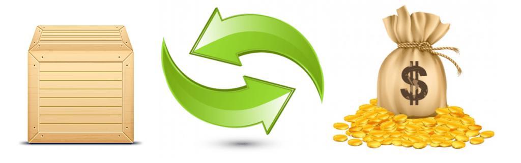 Замена товара деньгами