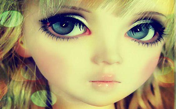 голова текстильной куклы